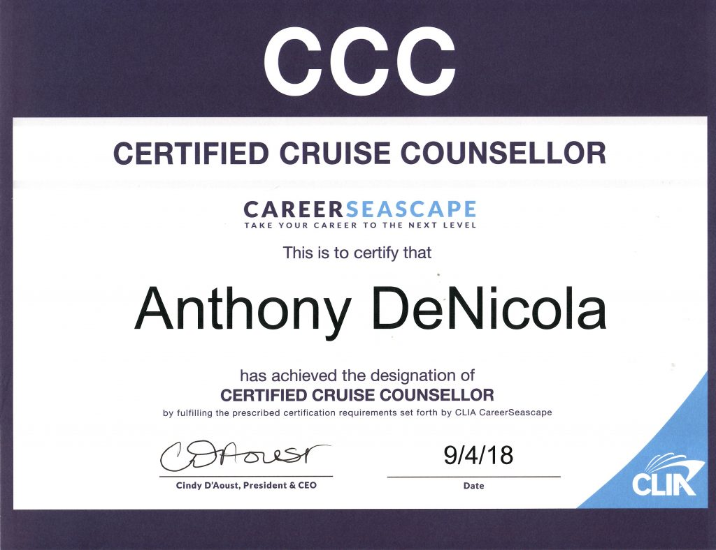 Certified Cruise Counselor Certification