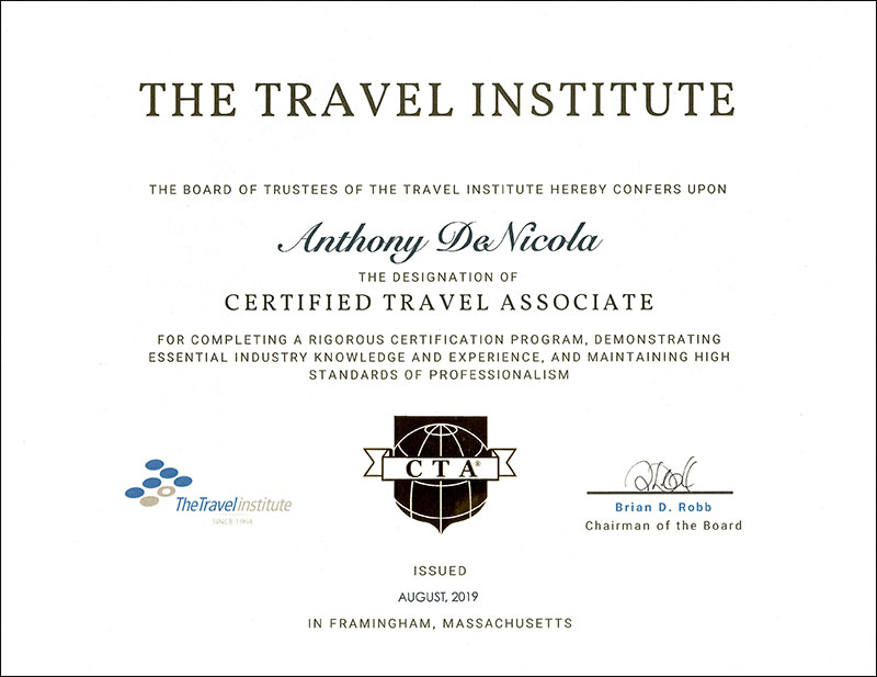 Certified Travel Associate